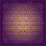 Abstract purple  vector baroque background Stock Photography