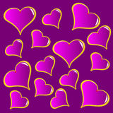 An abstract purple vector valentines background Stock Photo