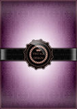 Abstract purple vintage card Stock Photos
