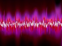 Abstract purple waveform. EPS 8 Royalty Free Stock Photography
