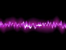 Abstract purple waveform. EPS 8 Stock Image