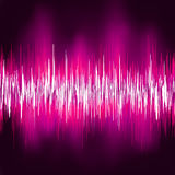 Abstract purple waveform. EPS 8 Stock Photos