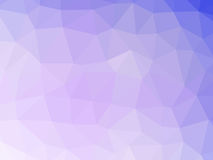 Abstract purple white gradient low polygon shaped background.  Stock Image