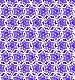 Abstract purple and white shine flower pattern wallpaper Royalty Free Stock Images