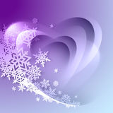 Abstract purple winter background Royalty Free Stock Images