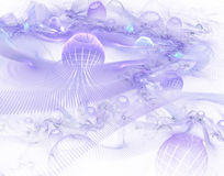 Abstract purple world. Stock Photo