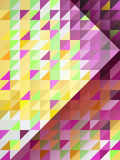 Abstract purple and yellow triangles with right direction arrow Stock Images