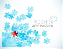 Abstract puzzle background Stock Photos