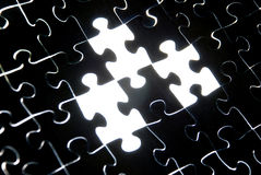 Abstract puzzle background Stock Image