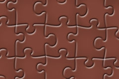 Abstract puzzle background. Chocolate colored puzzle design abstract background Stock Images
