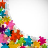 Abstract puzzle background, , eps10 Royalty Free Stock Photos