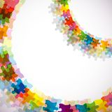 Abstract puzzle background, , eps10 Royalty Free Stock Photo
