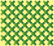 Abstract puzzle background green Stock Photo