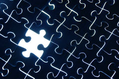 Abstract puzzle background with one missing piece Royalty Free Stock Images