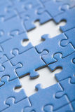 Abstract puzzle background with two missing pieces Stock Photos