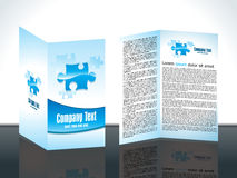 Abstract puzzle based brochure concept template Stock Image