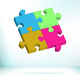 Abstract Puzzle. + EPS8. Vector file Royalty Free Stock Photo
