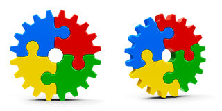 Abstract puzzle gears Stock Image