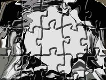 Abstract puzzle in grey tones Royalty Free Stock Photo
