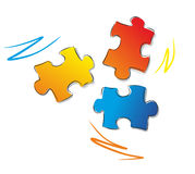 Abstract puzzle pieces Royalty Free Stock Image