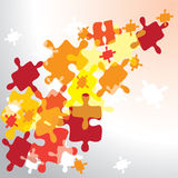 Abstract  puzzles background. Abstract puzzles background,  illustration Stock Photos