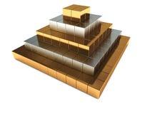 Abstract pyramid Stock Photo
