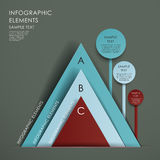 Abstract pyramid chart infographics Royalty Free Stock Photos