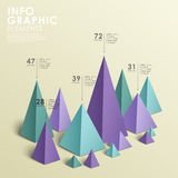 Abstract pyramid chart infographics Royalty Free Stock Photography