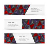 Abstract pyramid horizontal banners Royalty Free Stock Photo