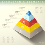 Abstract pyramid infographics Stock Photo