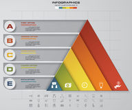 Abstract pyramid shape layout with 5 steps order template. EPS10. Abstract pyramid shape layout with 5 steps order template/graphic or website layout. EPS10 Stock Illustration