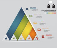Abstract pyramid shape layout with 5 steps order template/graphic or website layout. EPS10 Vector Illustration