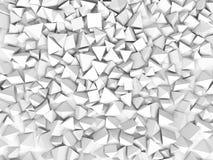 Abstract pyramidal shape. 3d rendering Royalty Free Stock Photos