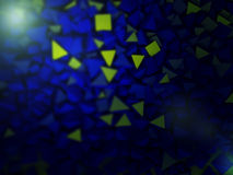 Abstract pyramidal shape. 3d rendering Stock Image