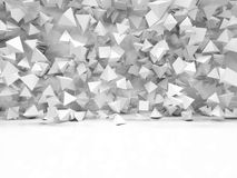Abstract pyramidal shape. 3d rendering Stock Photos
