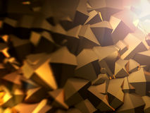 Abstract pyramidal shape. 3d rendering Royalty Free Stock Images