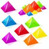 Abstract pyramids. Stock Photo