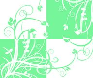 Abstract quad foliage vector Royalty Free Stock Images