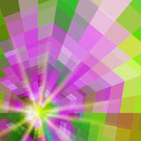 Abstract quadrangle colorful shining  background Stock Photo
