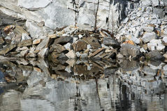 Abstract quarry and water Royalty Free Stock Images