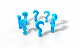 Abstract Question mark array Royalty Free Stock Image