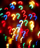 Abstract question-mark background. On black Royalty Free Stock Photography