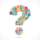 Abstract Question Mark design Stock Photography