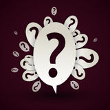 Abstract question mark. Speech bubble Royalty Free Stock Image