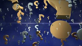 Abstract Question marks stock footage