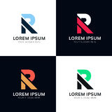 Abstract R letter sign company logo icon vector design Royalty Free Stock Image
