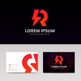 Abstract R logo icon company sign vector design Stock Photo