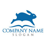 Abstract Rabbit and book vector logo design. Stock Photography