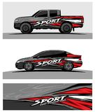Abstract racing background for truck car and vehicles. Use for car wrap and vinyl cutting sticker stock illustration