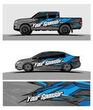 Abstract racing  background for truck car and vehicles. Use for car wrap and vinyl cutting sticker Royalty Free Stock Photos